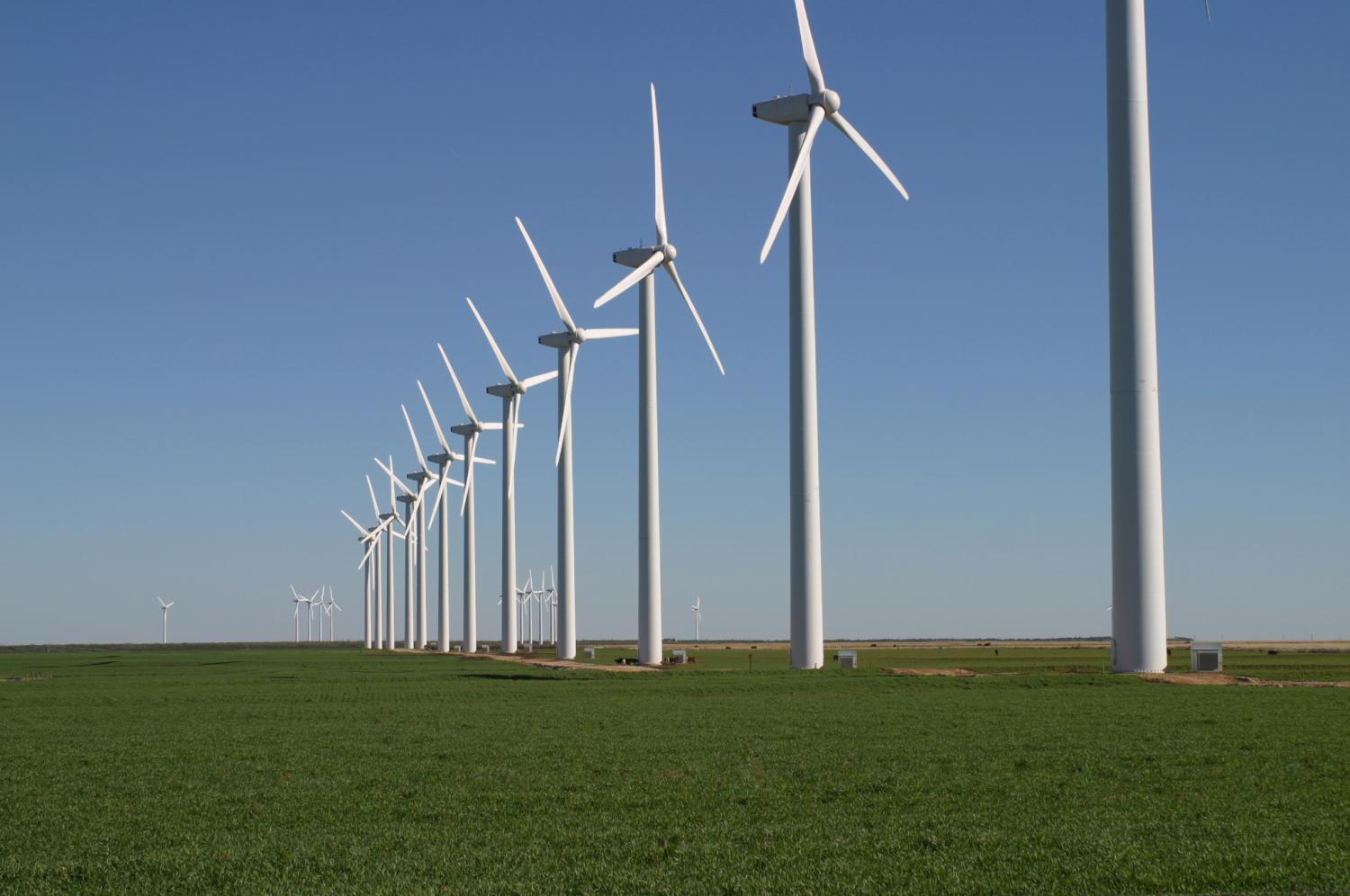 wind turbines could cover 40 percent of the current electricity