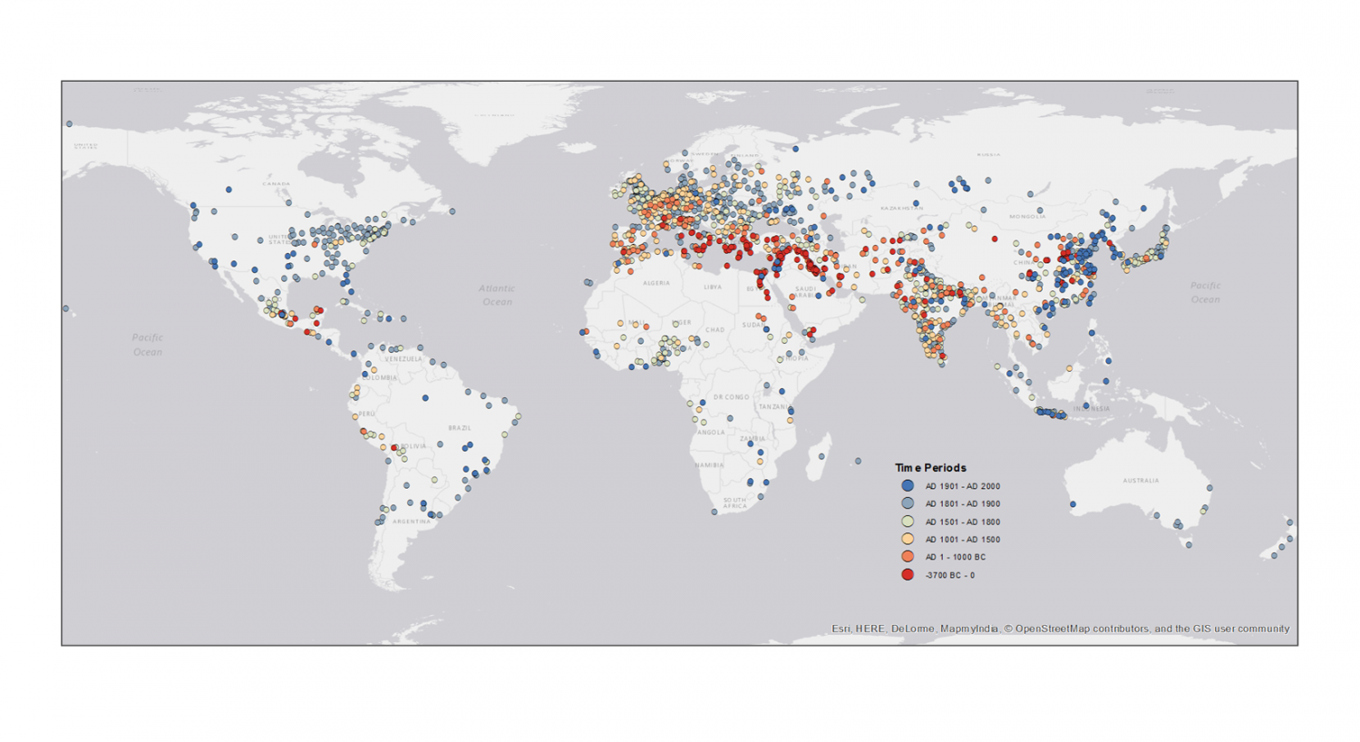 World Map 2000 Bc.Researchers Map 6 000 Years Of Urban Settlements