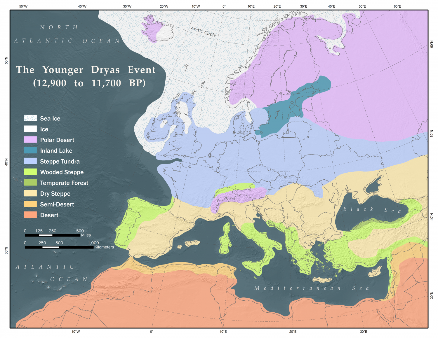Gazelle fossils in israel indicate southern levant not as dry map depicting land cover over europe and north africa during the younger dryas event credit wikipedia cc by sa 40 gumiabroncs Image collections