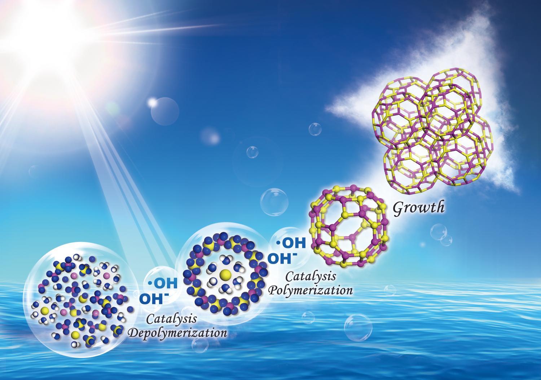 hydroxyl radicals speed up zeolite formation