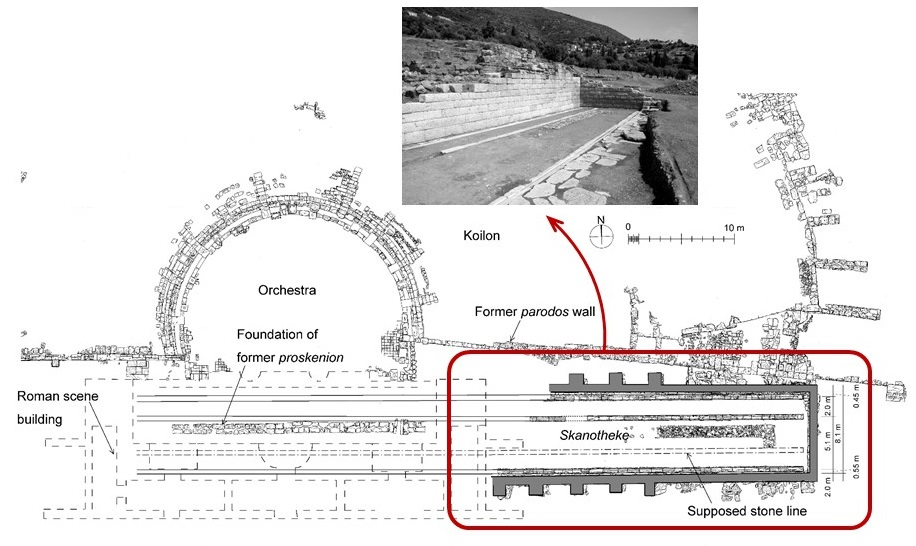 Ancient greek theaters used moveable stages more than for Good greek moving and storage