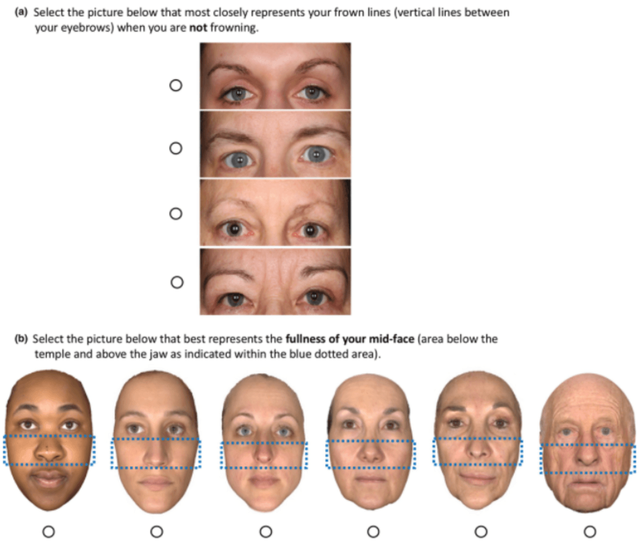 Select facial area on photo