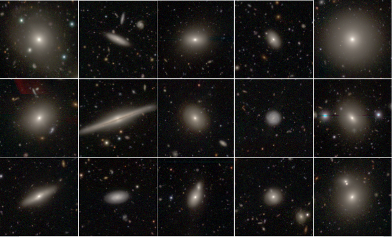 Galaxies from the SAMI survey, imaged with Japan's Subaru telescope. Credit: D. Taranu (University of Western Australia), C. Foster (University of Sydney), NAOJ (the National Astronomical Observatory of Japan)