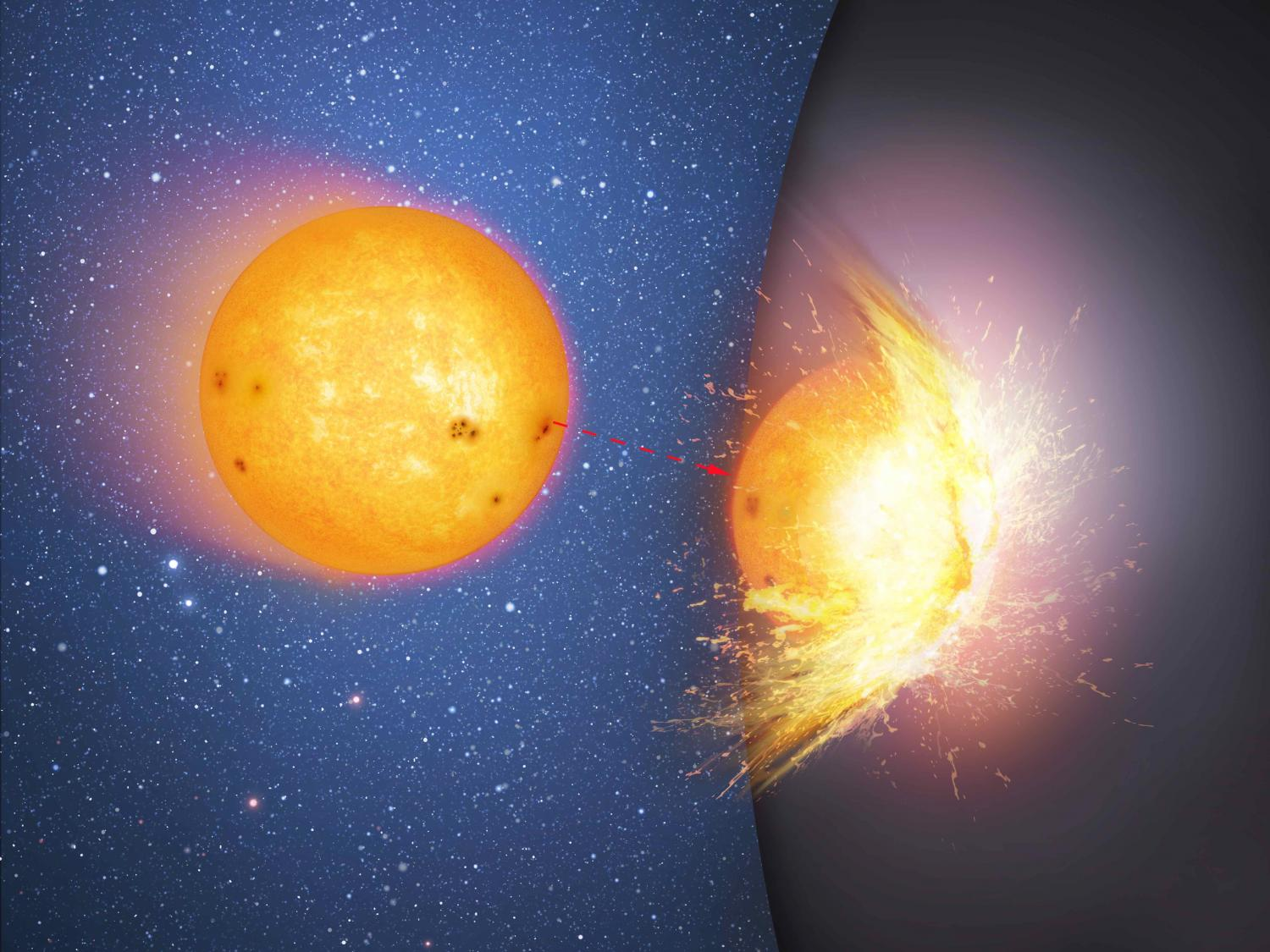 Do stars fall quietly into black holes, or crash into ...