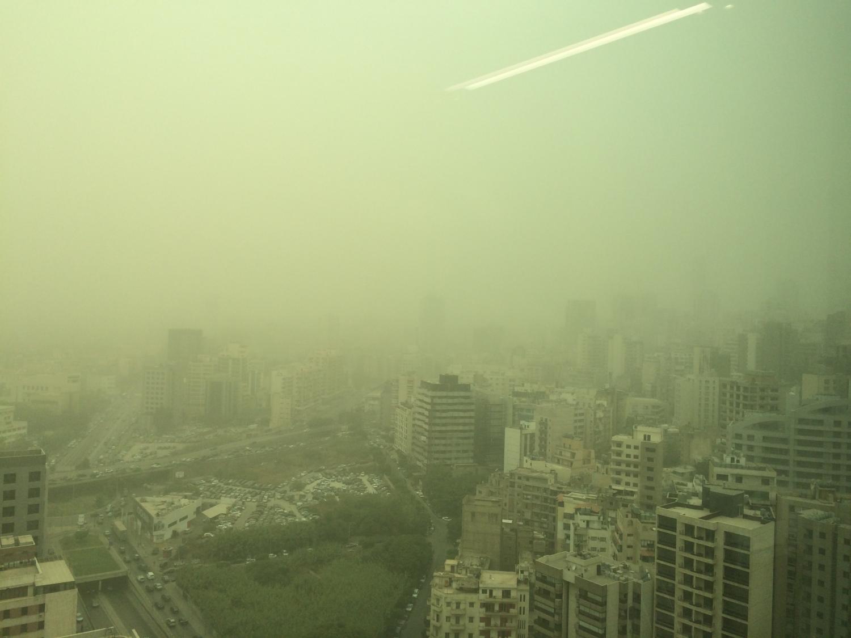 Dust storm in beirut lebanon credit eli bou zeid