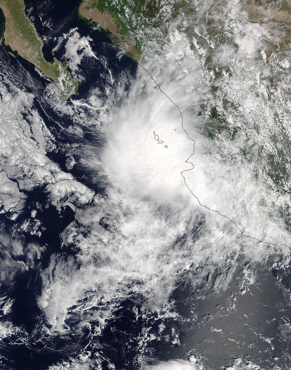NASA catches Tropical Depression Pilar hugging and soaking Mexico's coast