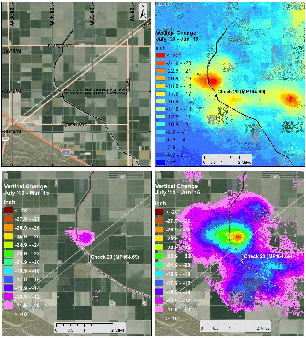 nasa data show californias san joaquin valley still sinking