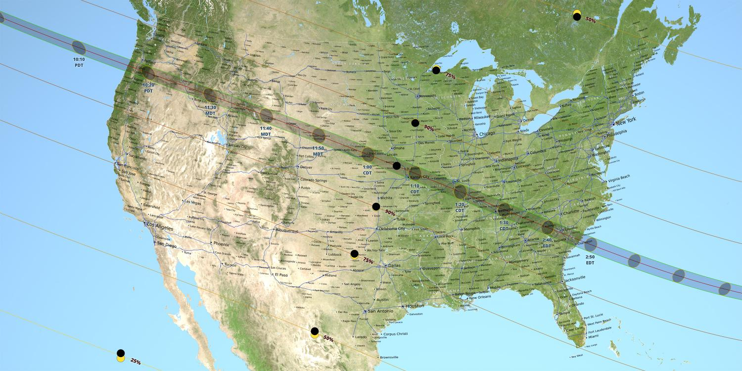 NASA Moon Data Provides More Accurate 2017 Total Solar Eclipse Path