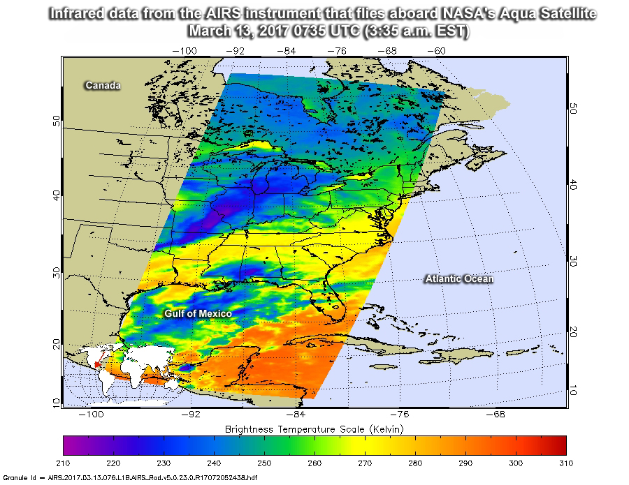 Nasa noaa satellites see winter storm madness march to the east publicscrutiny Images
