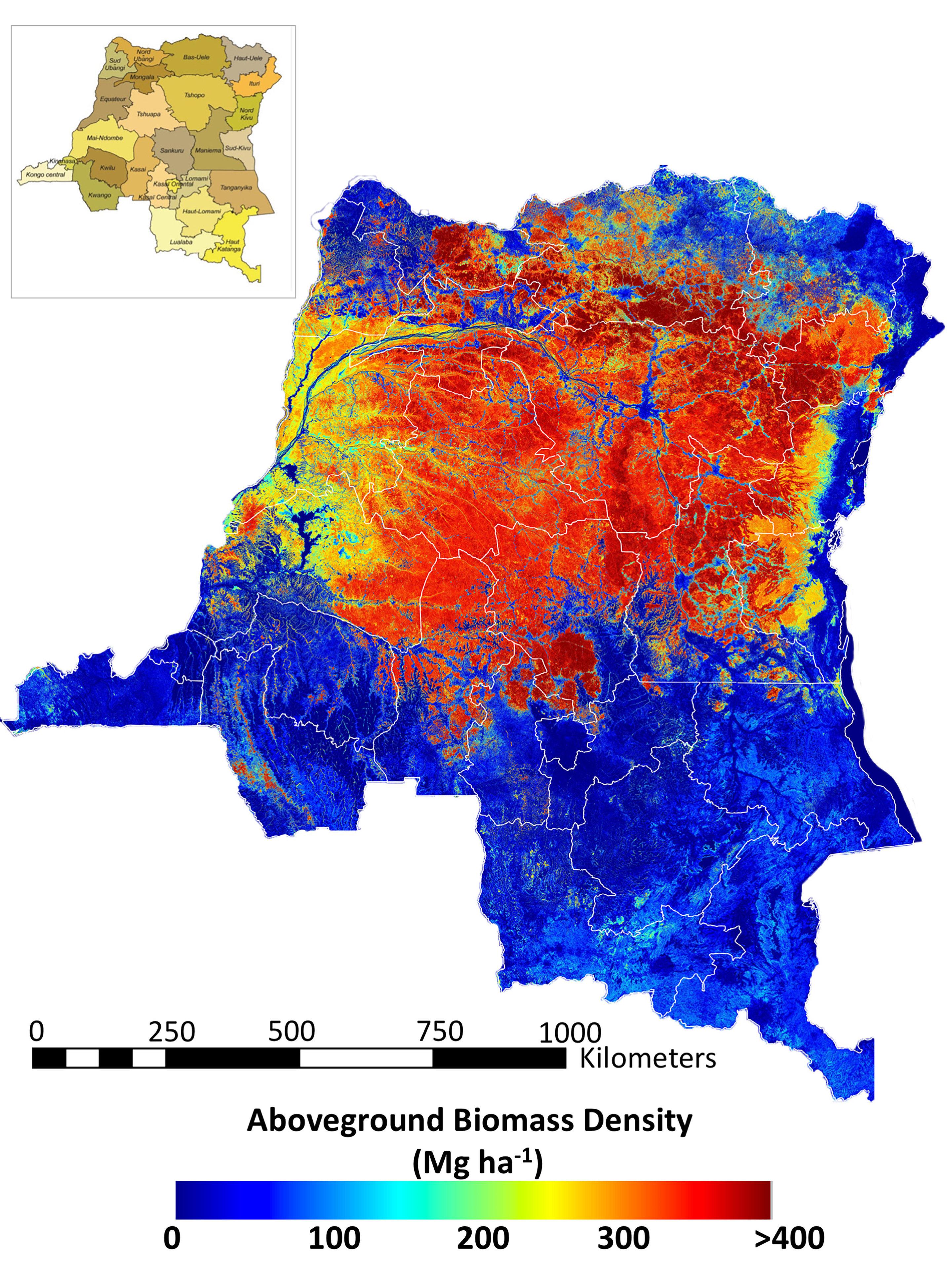 NASA survey technique estimates Congo forest\'s carbon