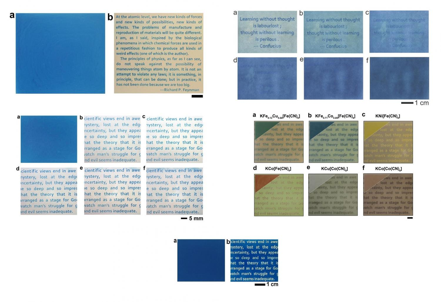 no ink required paper can be printed light various samples of the light printable paper credit wang et al copy2017 american chemical society