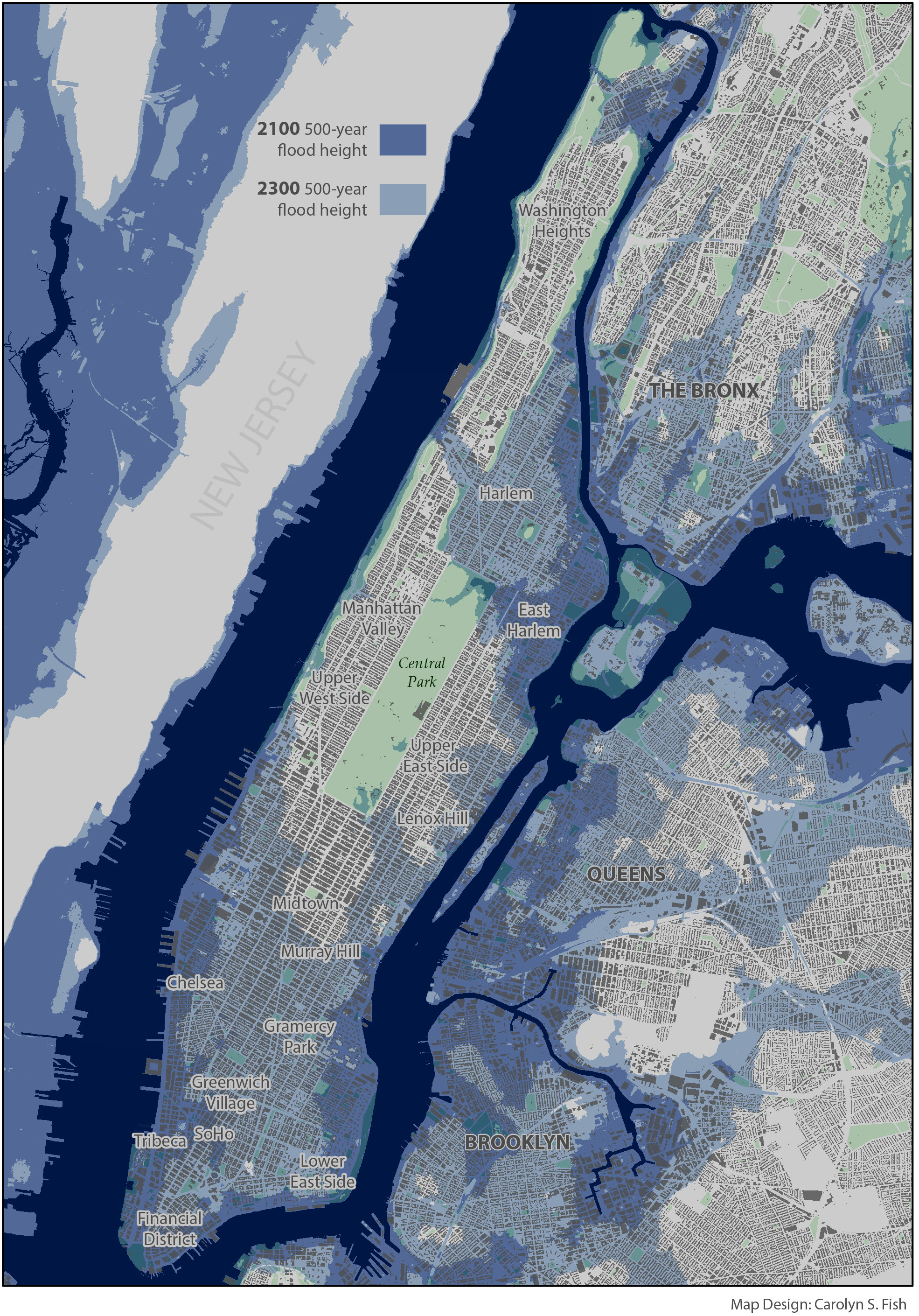 sea level rise not stronger storm surge will cause future nyc flooding