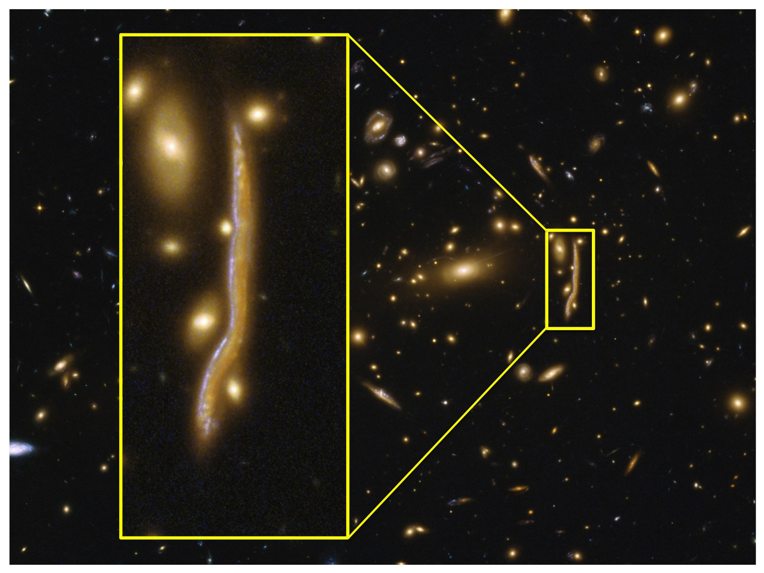 The anatomy of a \'cosmic snake\' reveals the structure of distant ...