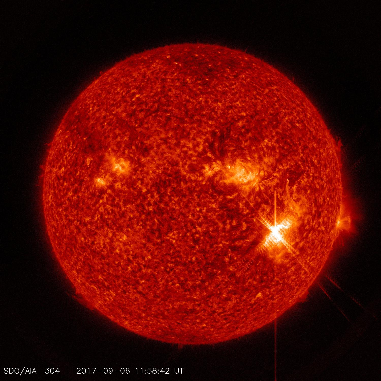 Two significant solar flares imaged by NASA's SDO