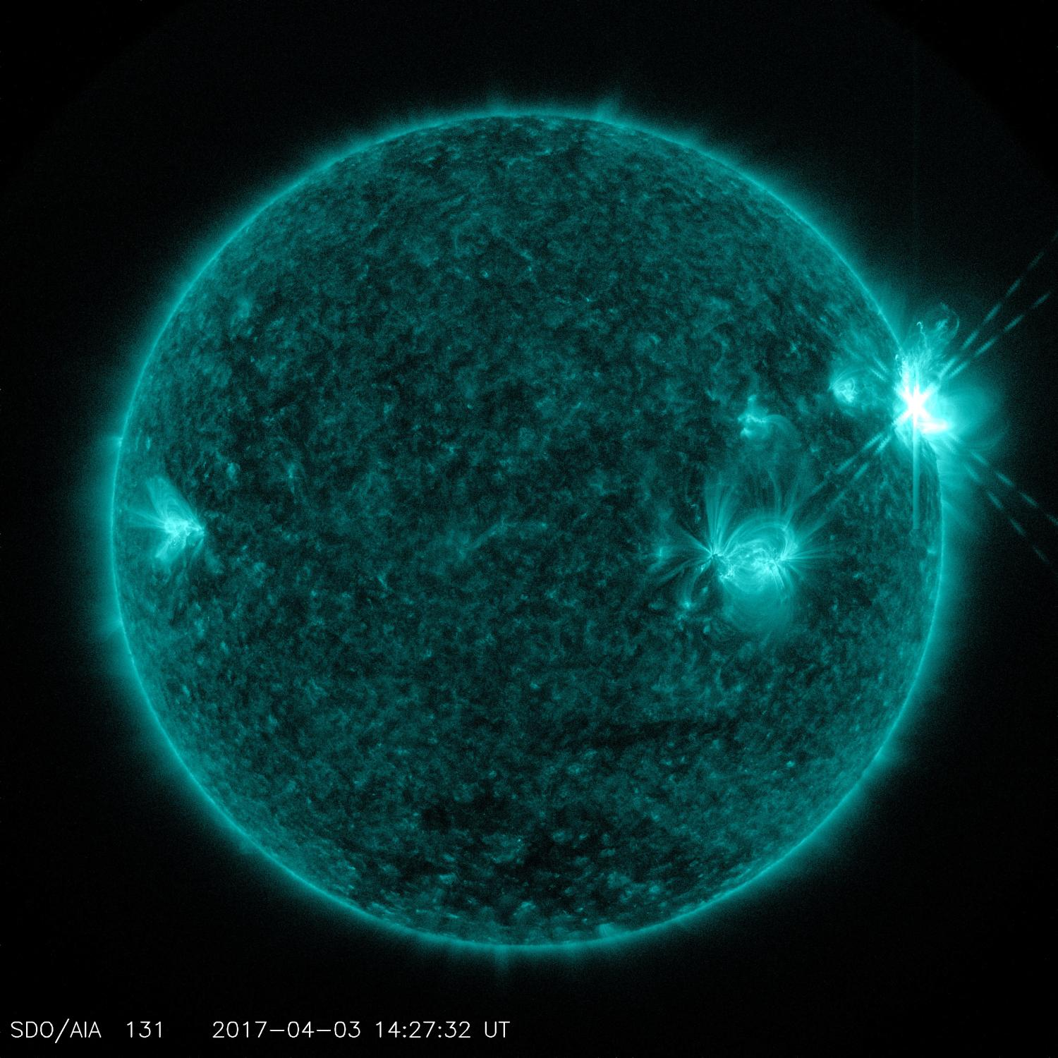 Solar Dynamics Observatory captured trio of solar flares ...