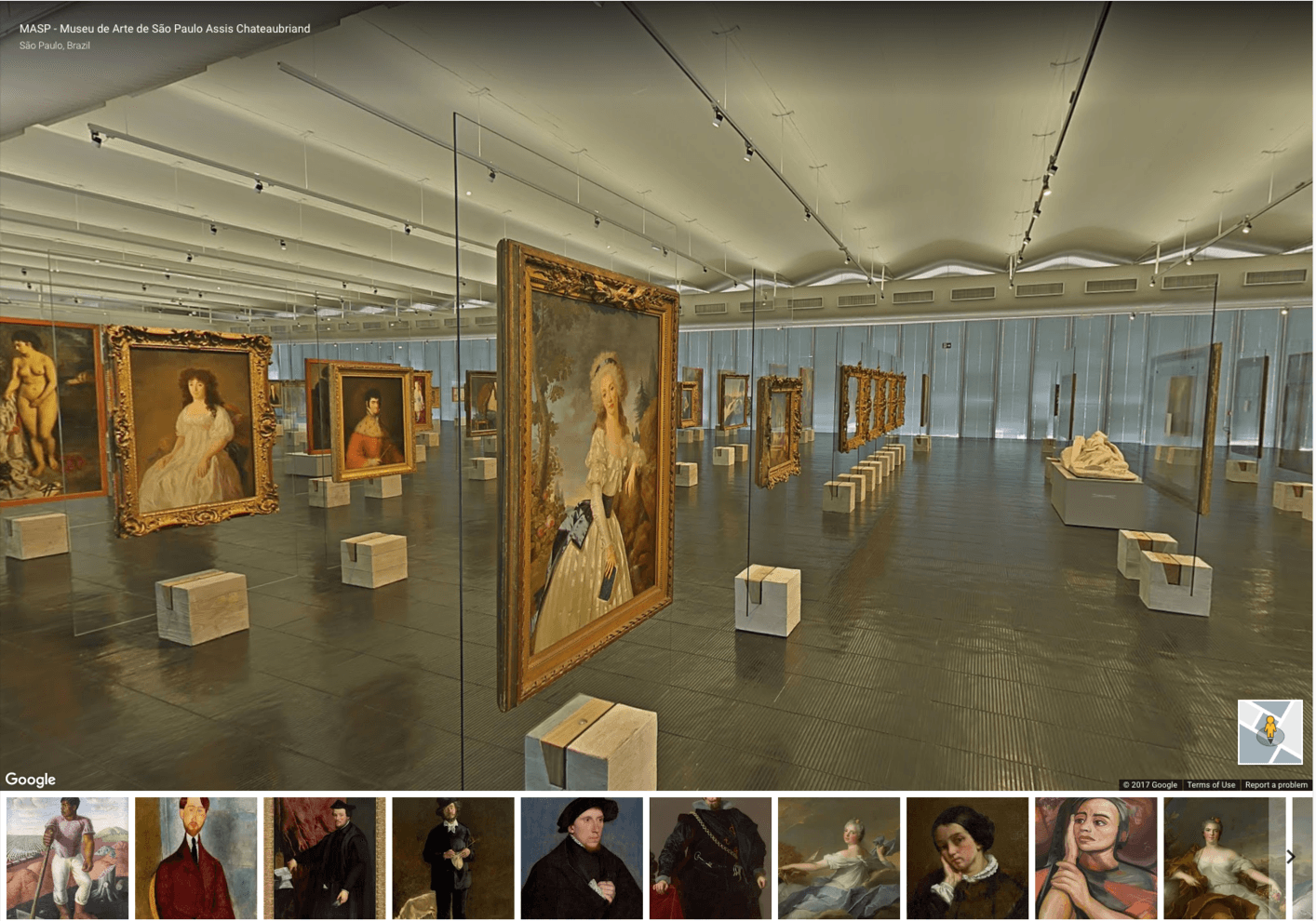 Walk through the picture gallery of the Museu de Arte de São Paulo,  Brazil's first modern museum. Credit: Google Arts & Culture Displaying 100  ...