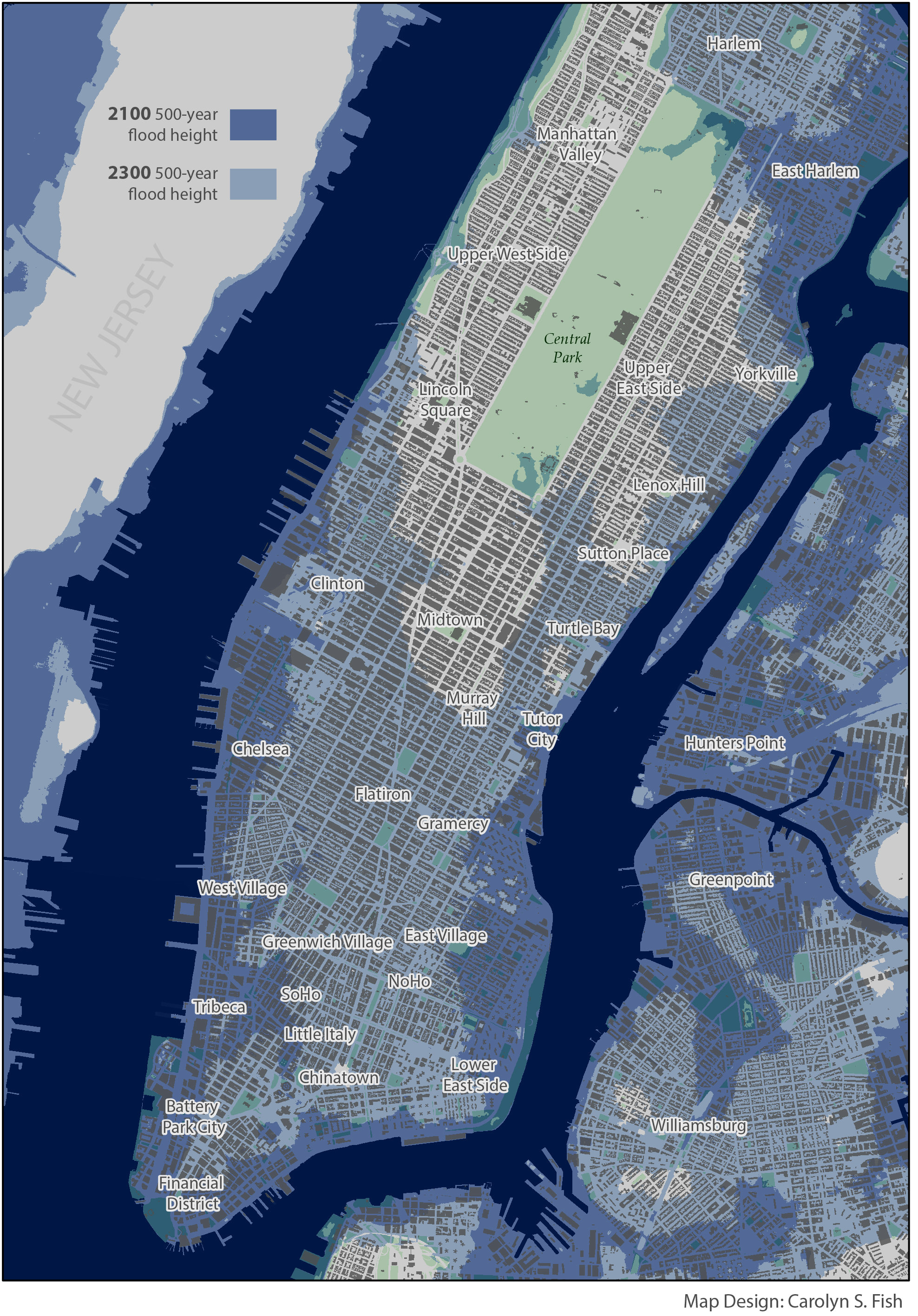 Level Rise Not Stronger Storm Surge Will Cause Future NYC Flooding - Map of us after sea level rise