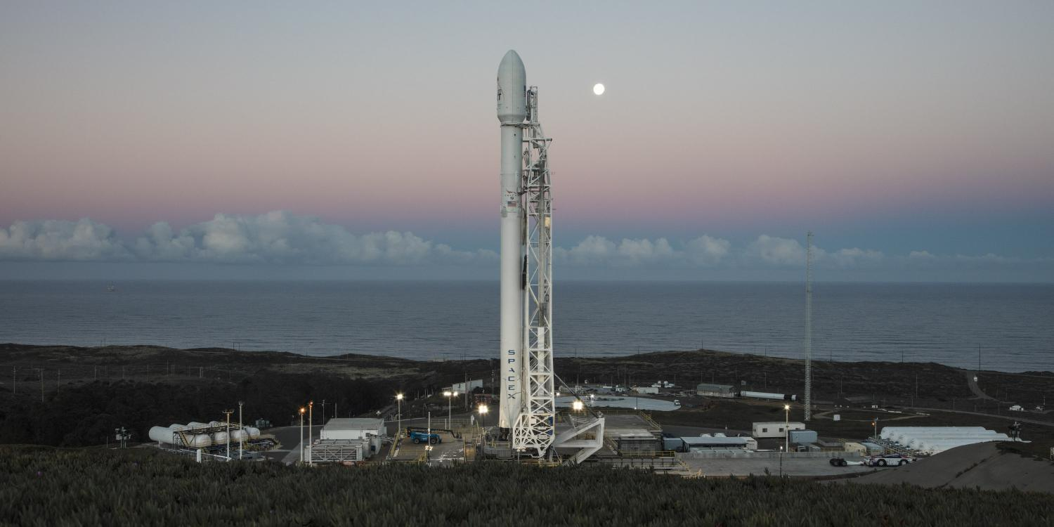 spacex falcon 9 poised for jan 14 2017 return to flight launch from vandenberg air force base in california carrying ten iridium next comsats to orbit