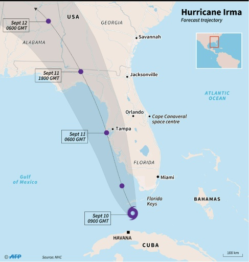 Hurricane Irma Marches On Major Florida Cities - Major cities in florida