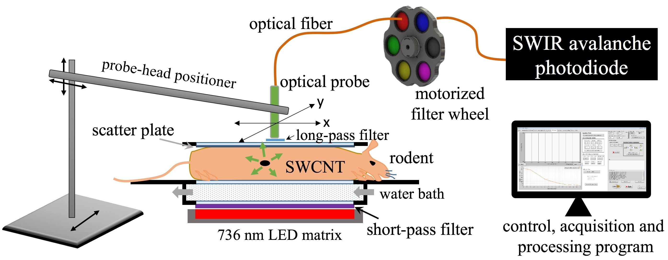 Researchers Use Fluorescent Carbon Nanotube Probes To Detect Ovarian Fiber Optic Probe Diagram Rice University And Md Anderson Have Developed A Technique That Uses Based Locate Specific Tumors In The Body