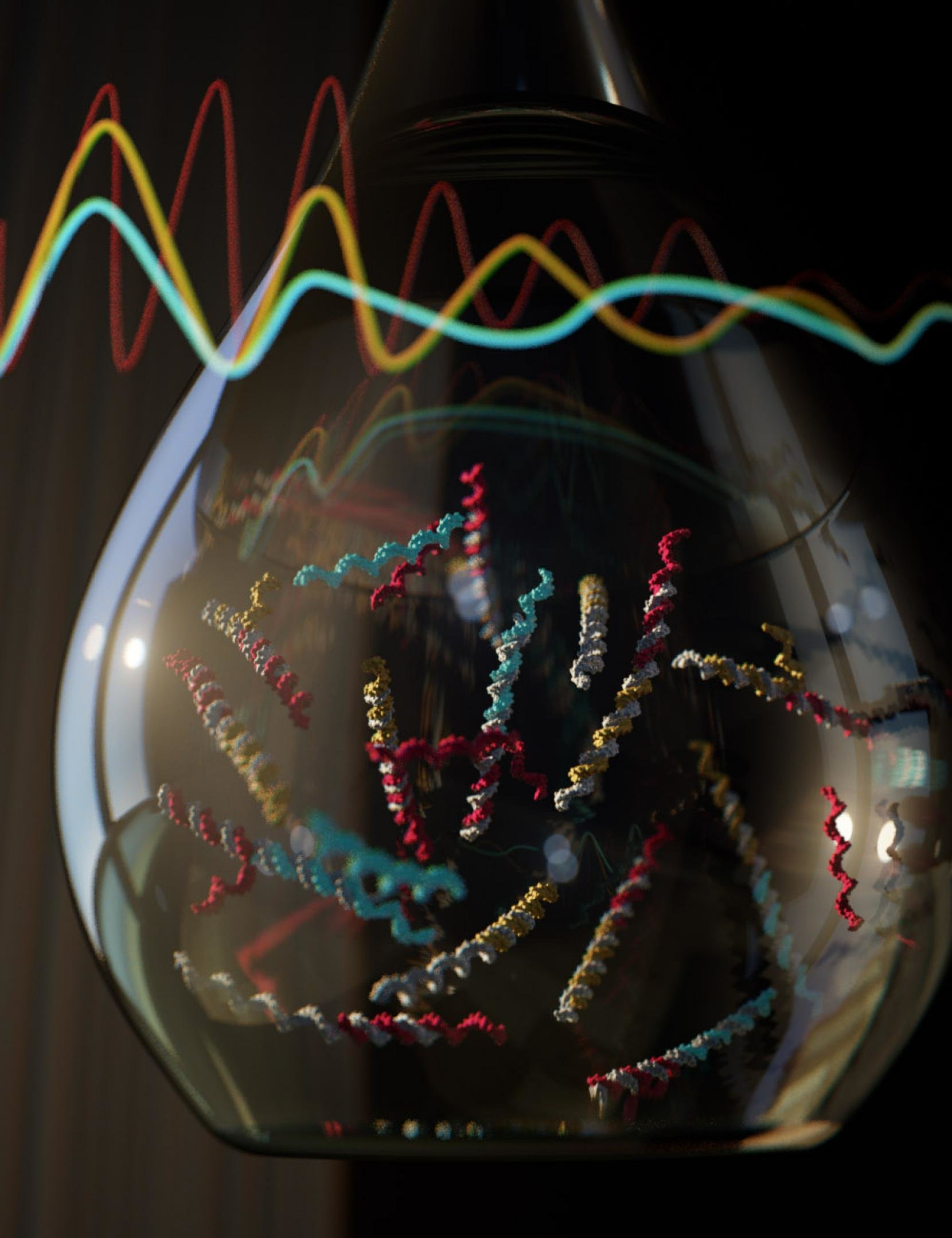 First Of Its Kind Chemical Oscillator Offers New Level Molecular Picture Building The Circuits Credit Ella Maru Studio And Cody Geary