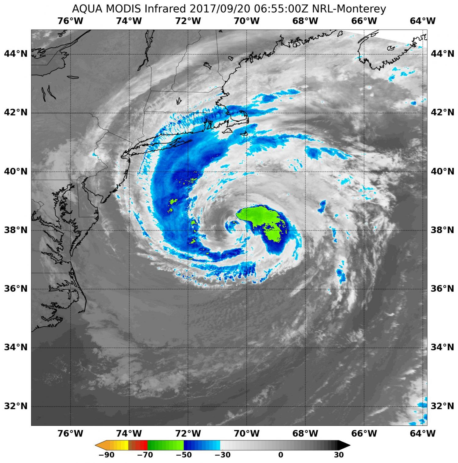 NASA Gets An Infrared View Of Large Tropical Storm Jose