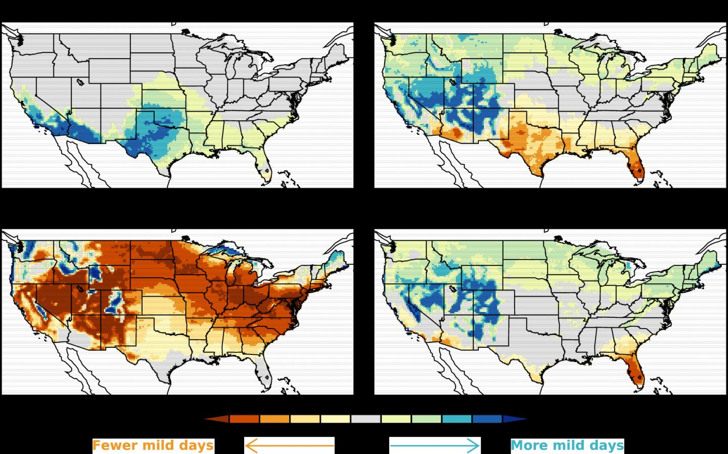 Change To Shift Global Pattern Of Mild Weather - Map of weather patterns in the us
