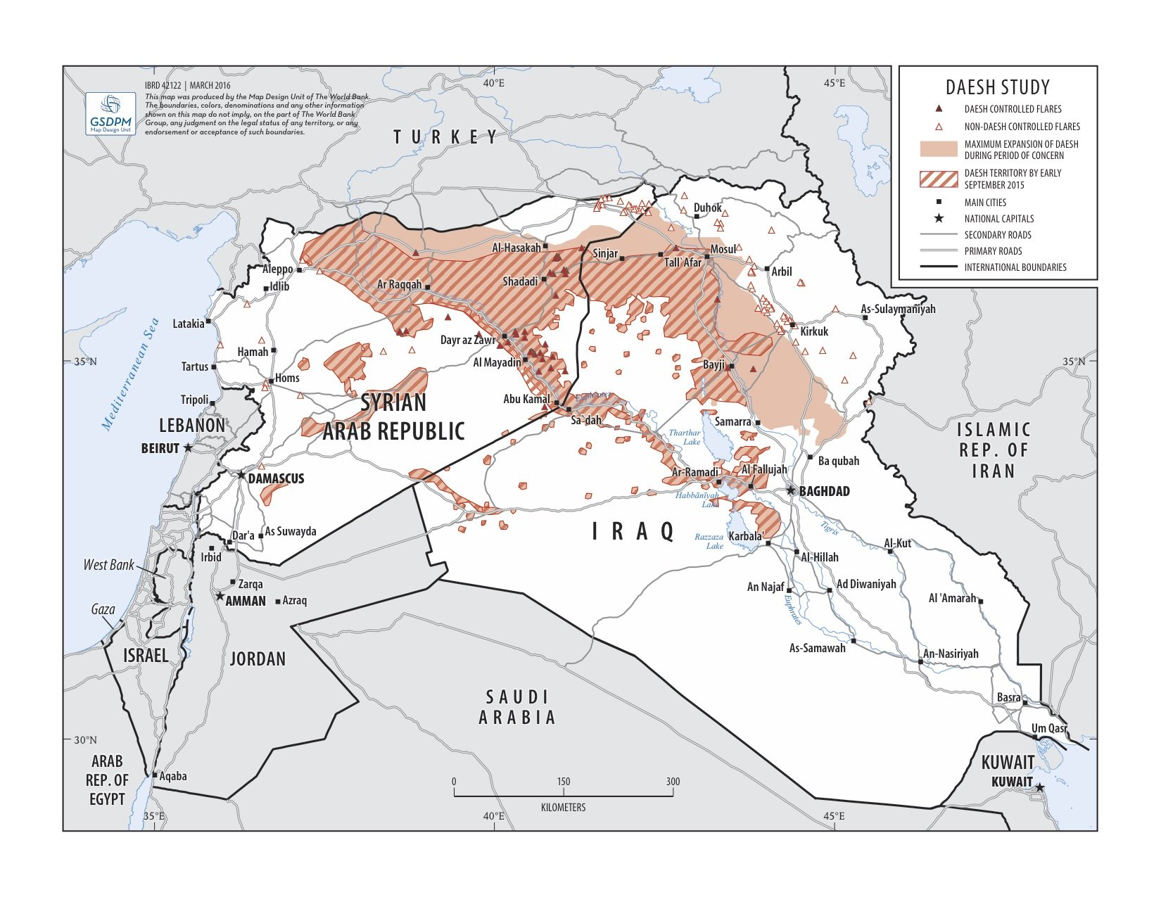 Imagery Reveals Decline In ISIS Oil Production - World satellite map 2014