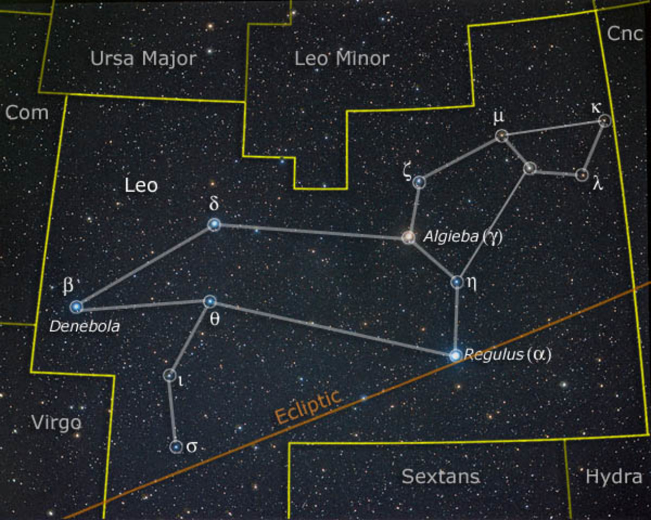 Regulus star is the brightest star in the constellation of Leo