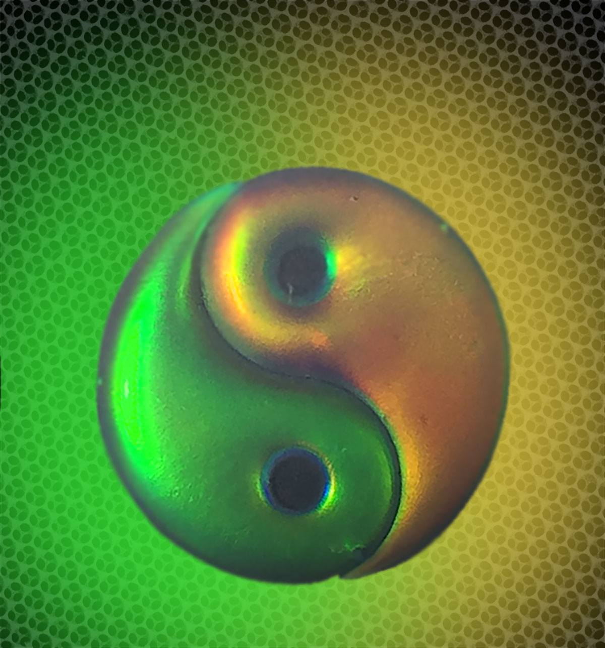 Chinese Taiji Hydrogel With Green Background. Credit: Yuanjin Zhao