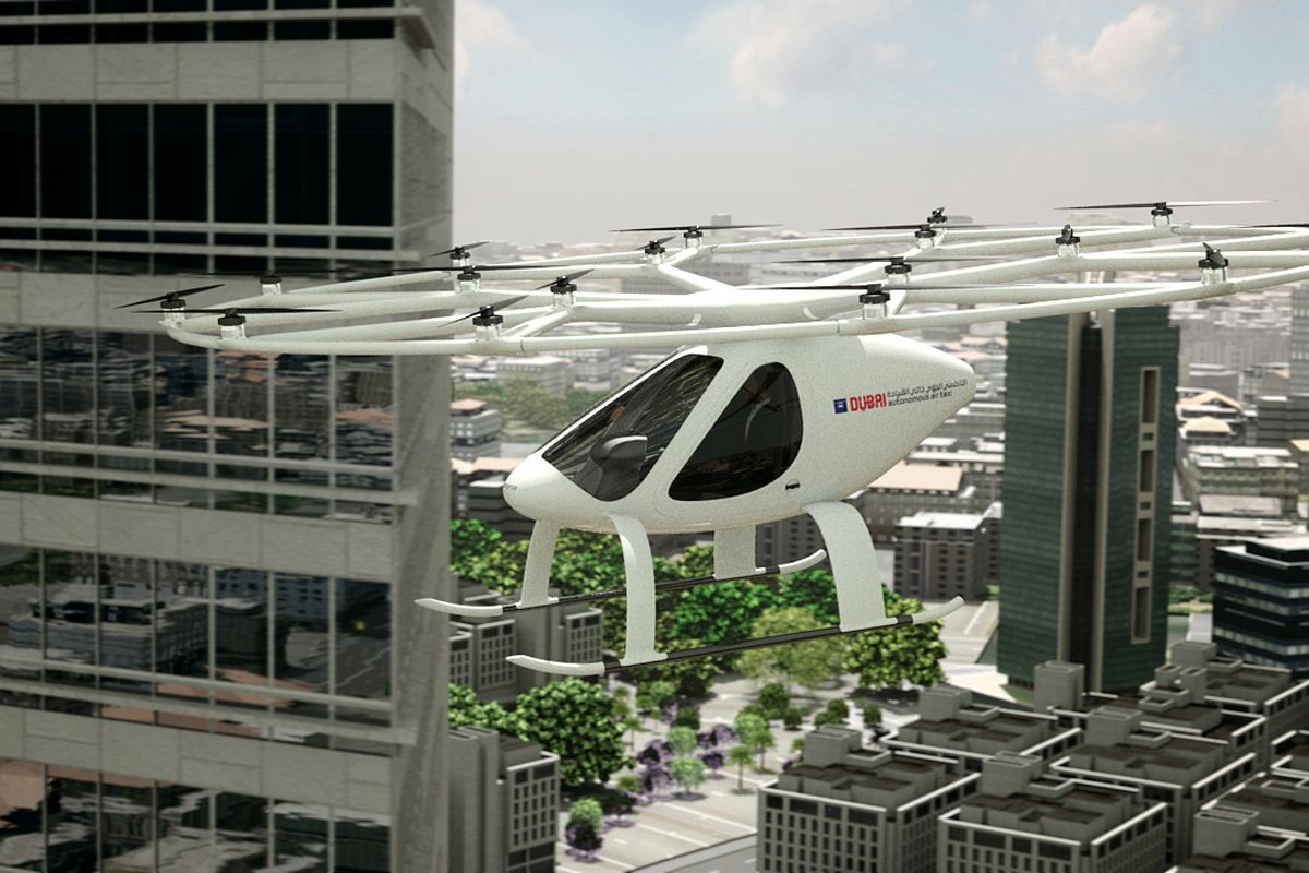 driverless hover taxi makes first concept flight in dubai