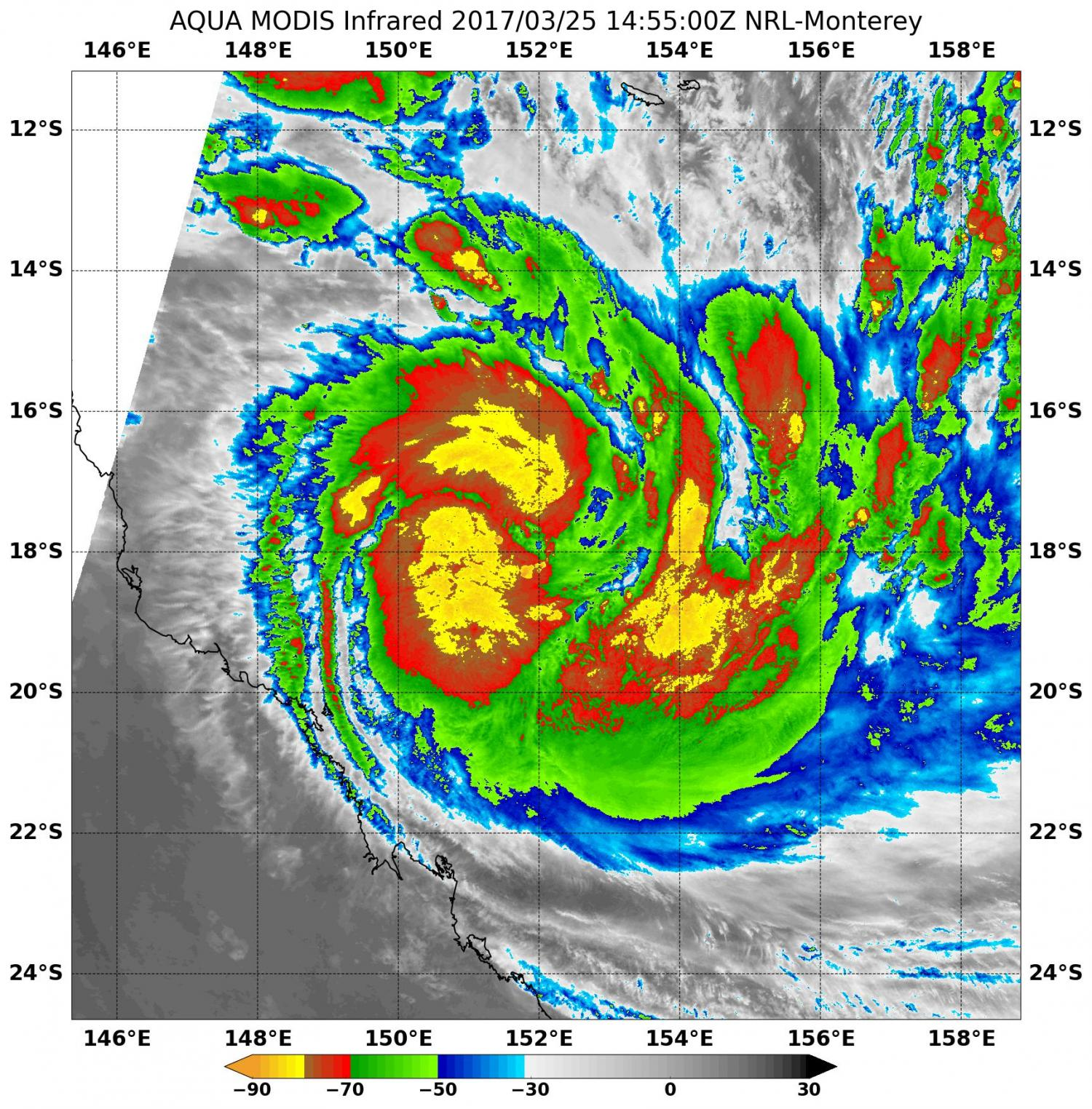 sees Tropical Cyclone Debbie form and strengthen