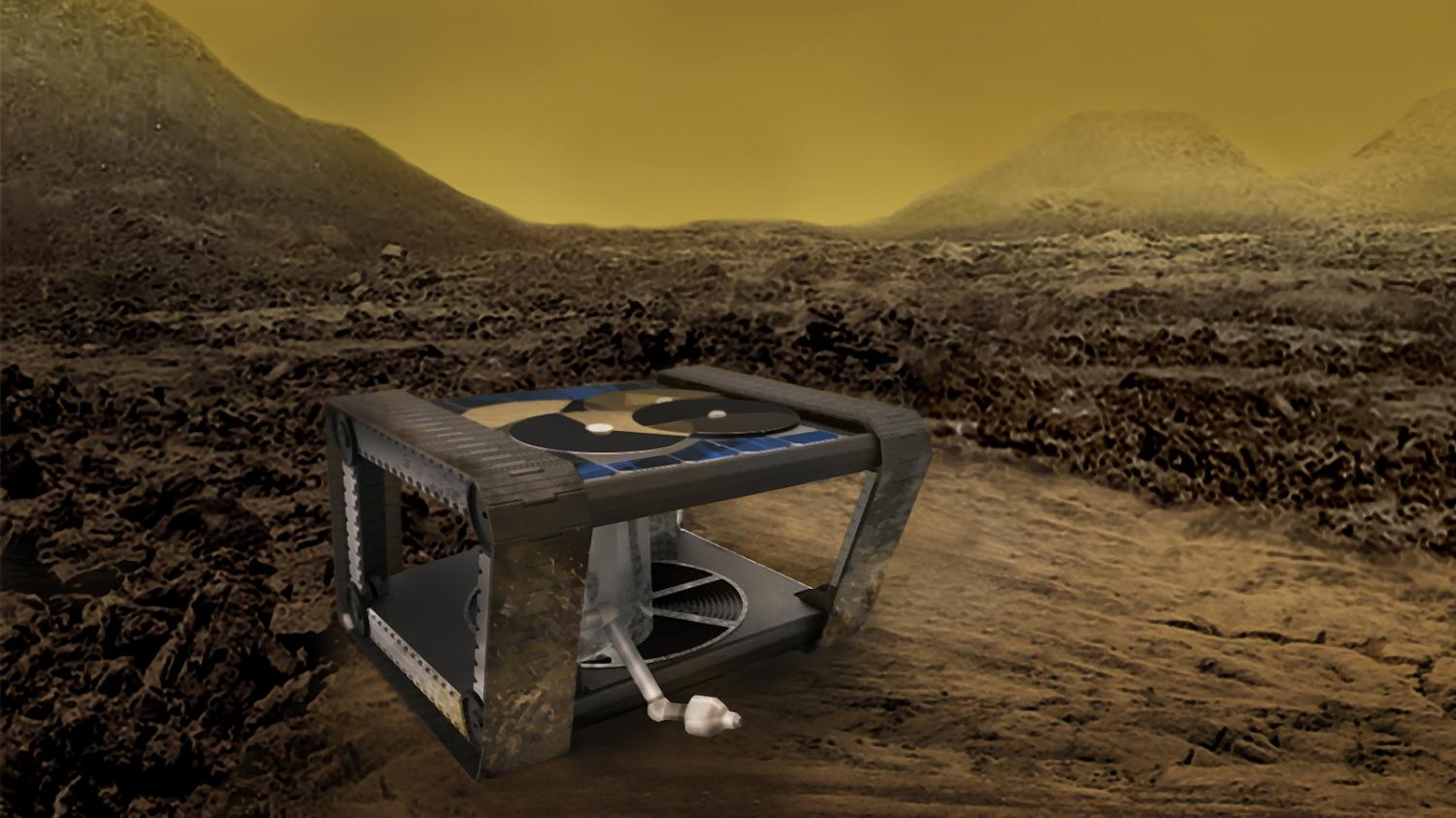 A clockwork rover for venus