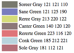 names of paint colors as delivereda neural network