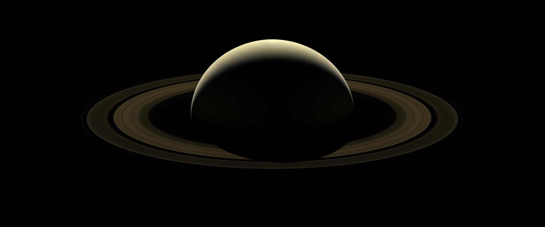 Cassini image mosaic: A farewell to Saturn