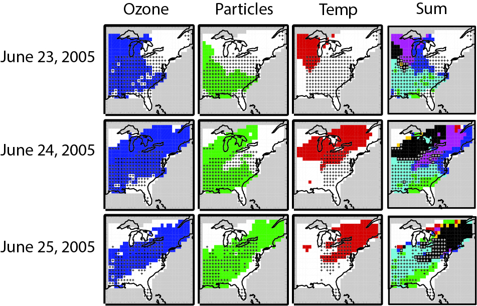 concurrent heat waves air pollution exacerbate negative health effects of each