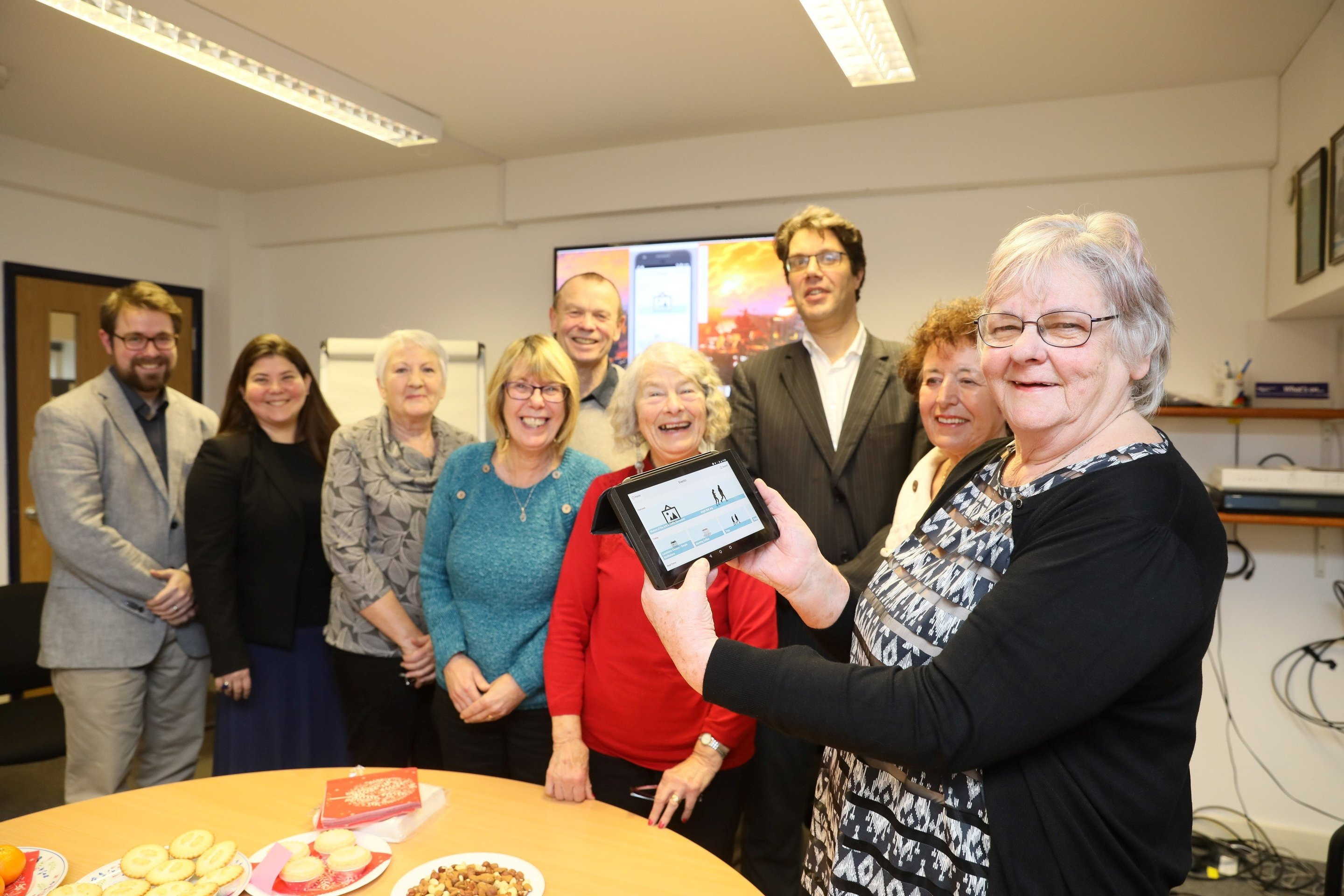 Lancaster University researchers have worked closely with a group of older  people to develop an app to better connect old people with their  communities.