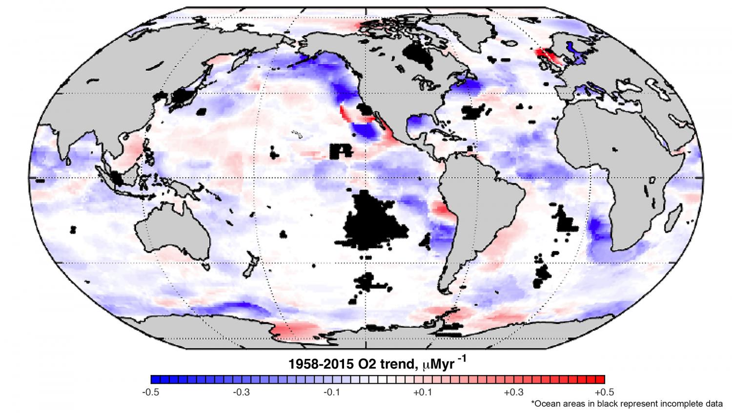 Of Data On Worlds Oceans Reveal A Troubling Oxygen Decline - Map of world oceans