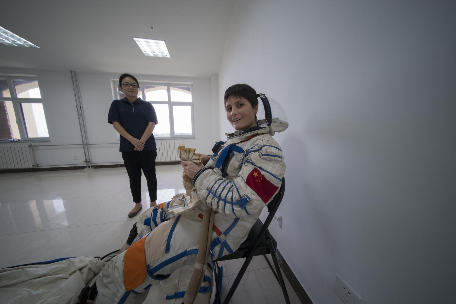 ESA And Chinese Astronauts Train To Her