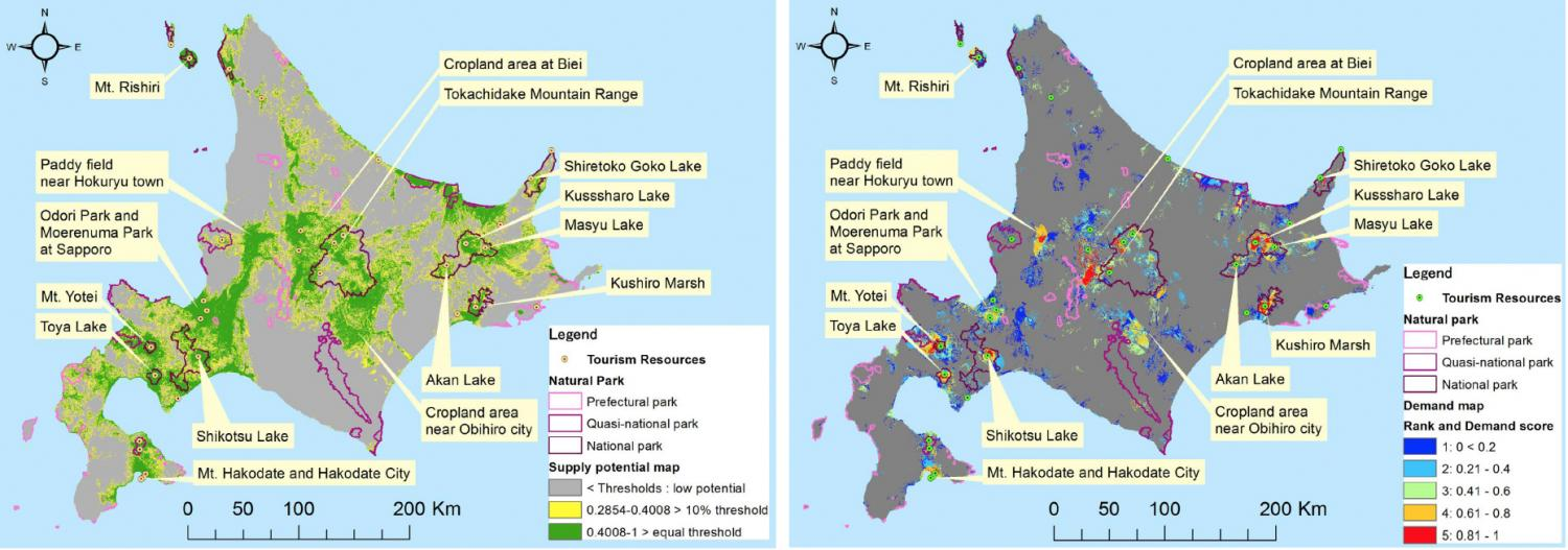 Hokkaido World Map.Evaluating Cultural Value Of Landscapes Using Geotagged Photos