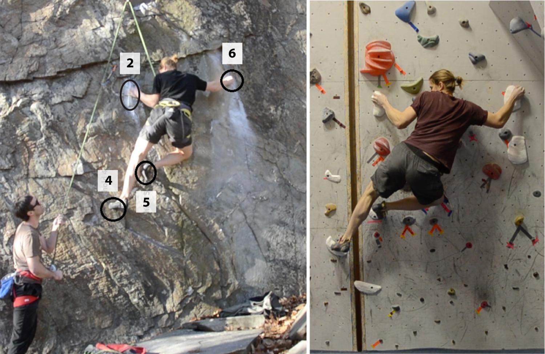 case study rock climbing technique
