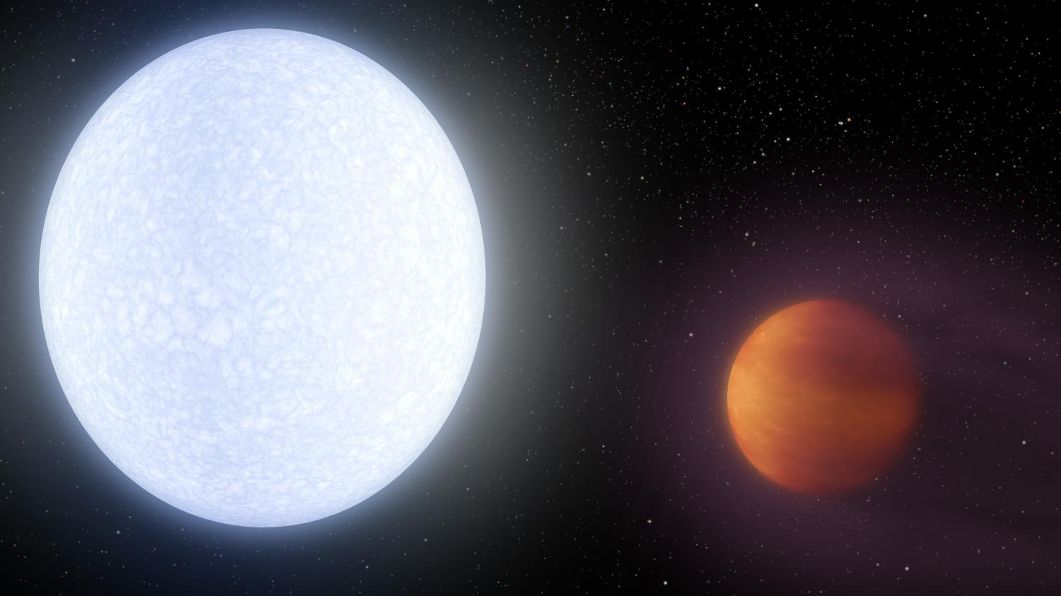 Extreme exoplanet Astronomers discover alien world hotter than most stars
