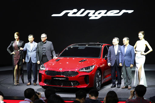 Future of asian luxury cars electric vehicles at auto show for Kia motors south korea