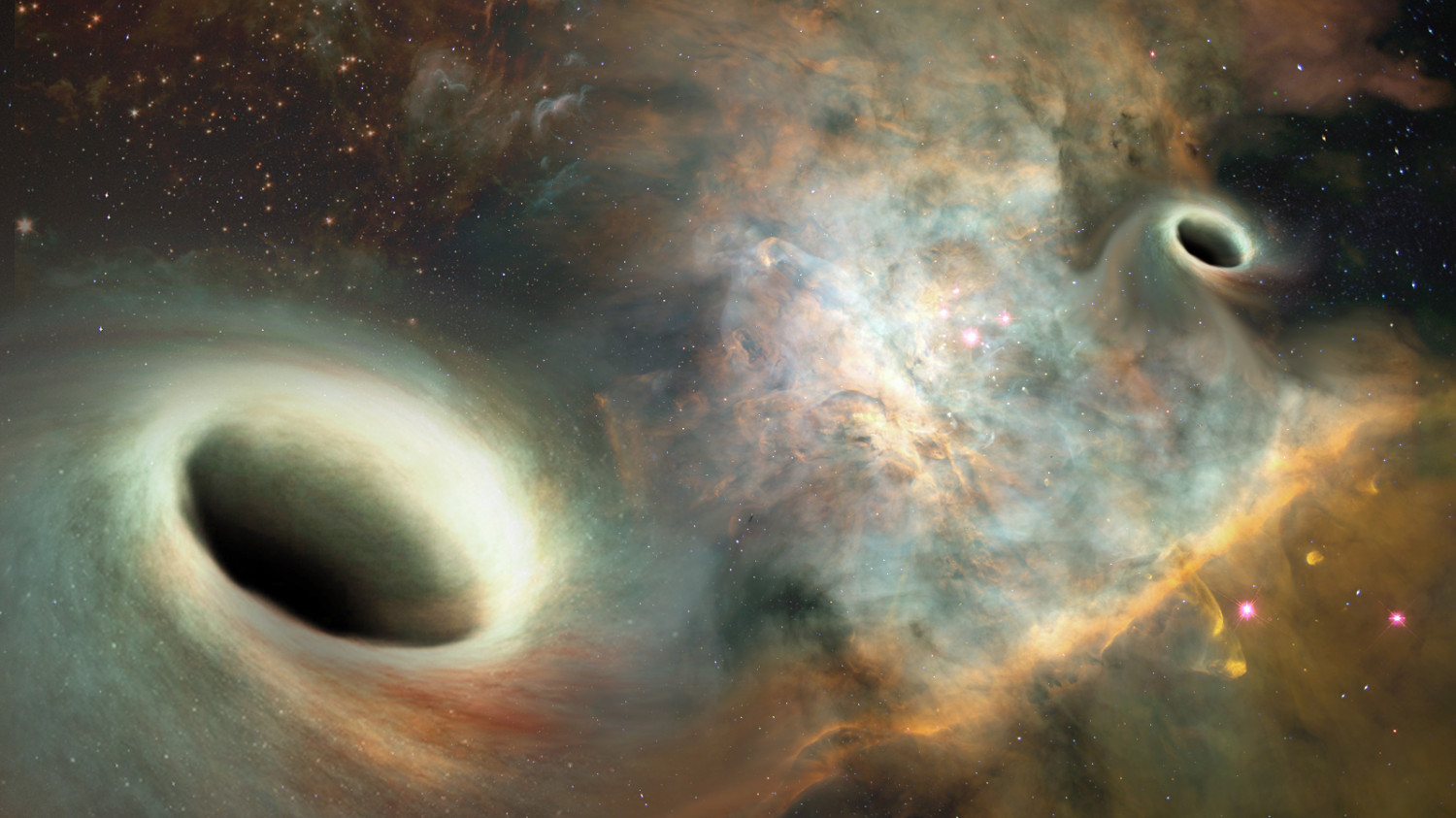 Slow-dancing supermassive black holes are orbiting at a snail's pace