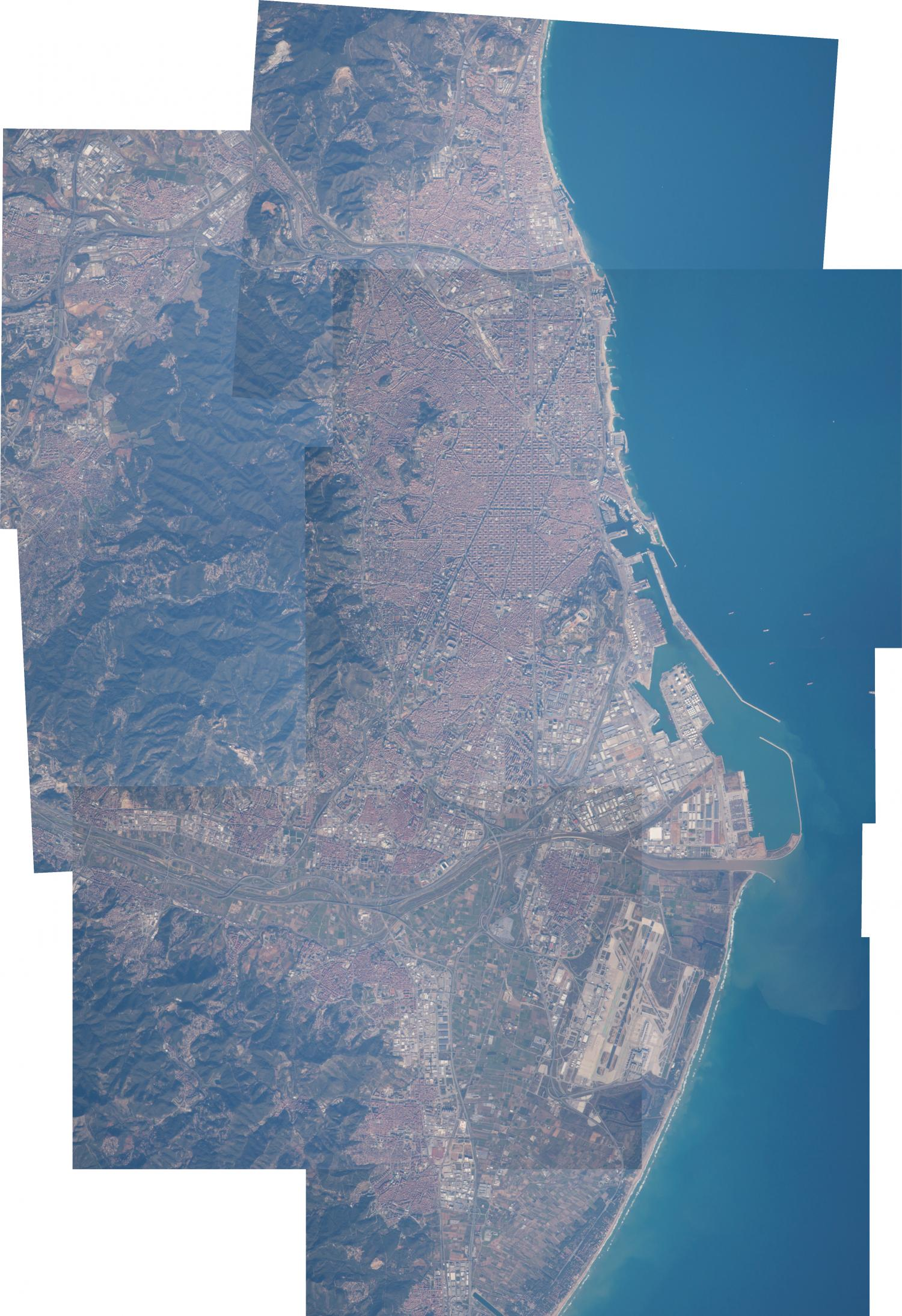 Image barcelona viewed from the international space station gumiabroncs Images