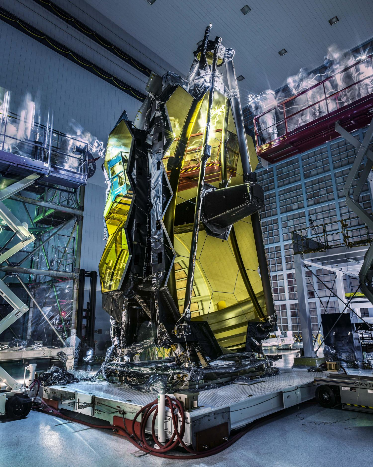 Image: James Webb Space Telescope lights out inspection