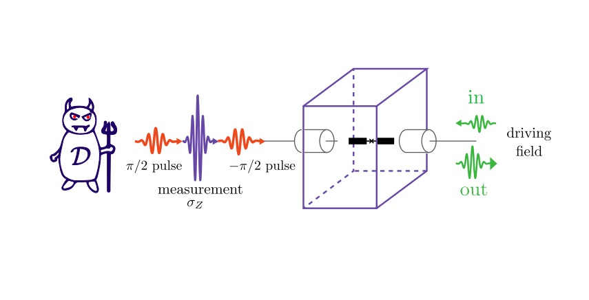 Maxwell's demon extracts work from quantum measurement