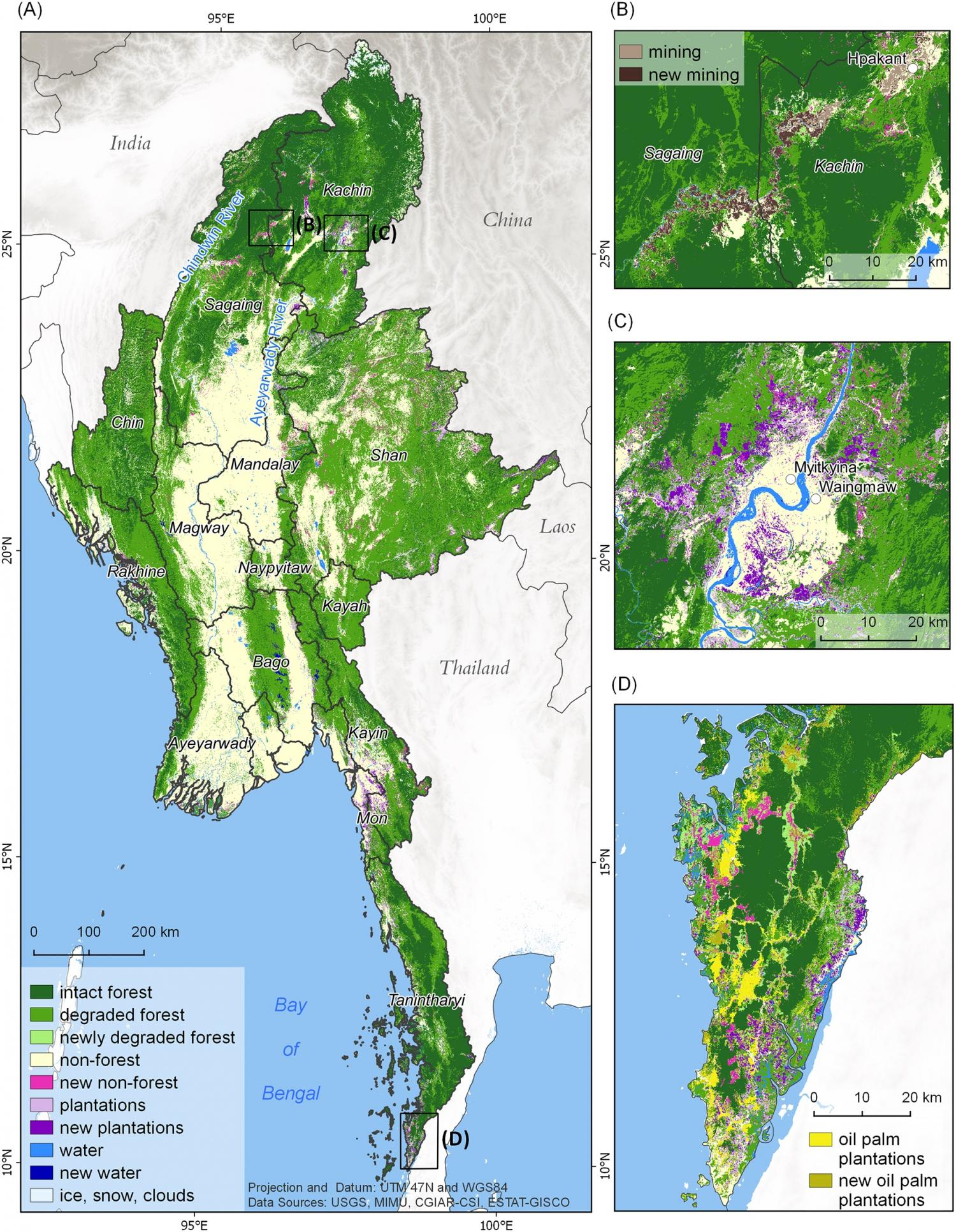 Extensive forests are declining rapidly due to political and the distribution of forest cover and forest cover change across myanmar credit bhagwat et al 2017 gumiabroncs Gallery