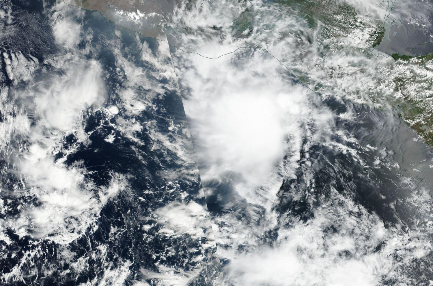 NASA caught Tropical Storm Adrian quickly losing steam
