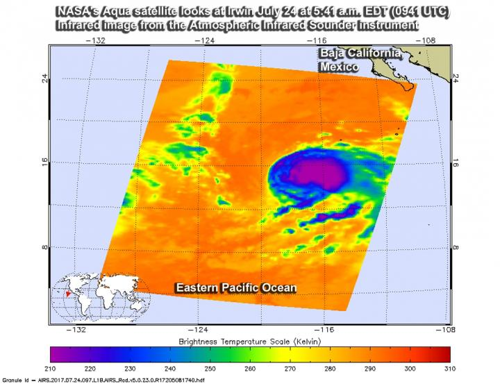 Suomi NPP Satellite sees Hilary on verge of major hurricane status